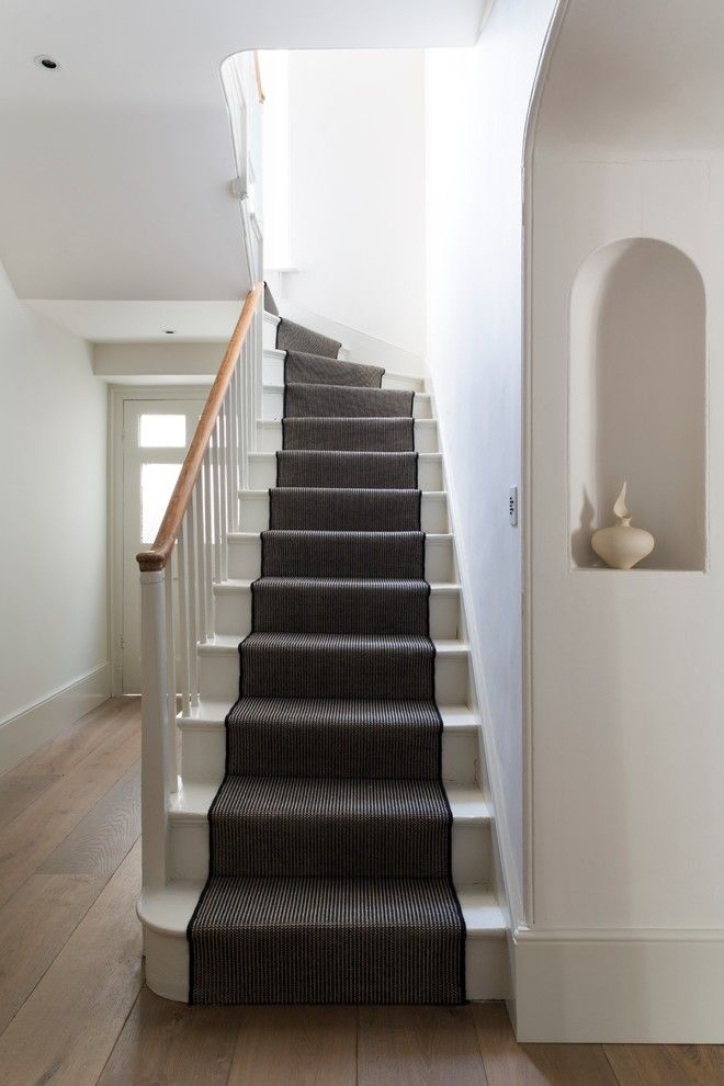 Best Stair Runner Carpet Staircase Victorian With Black And 400 x 300
