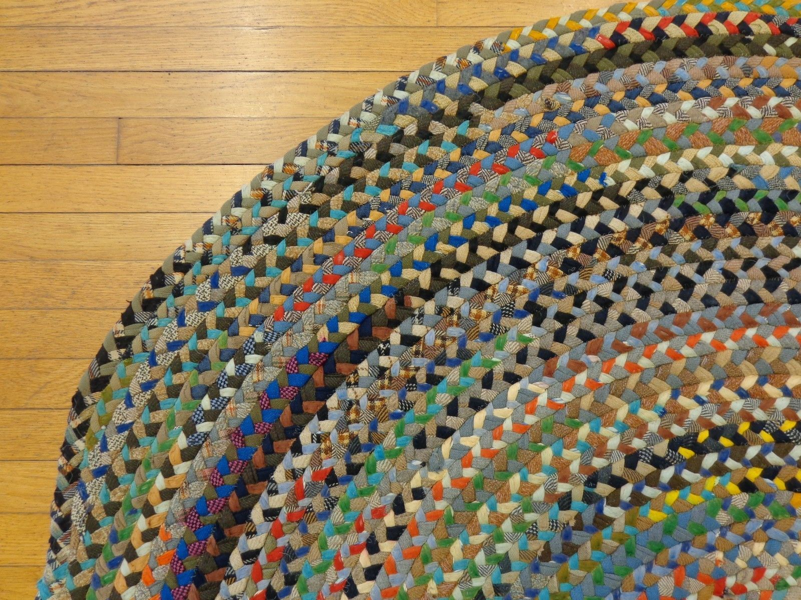 5 9 X 8 2 Braided Rug Discount Rug Sale Country Rug Vintage Area Rug Ebay With Images Country Rugs