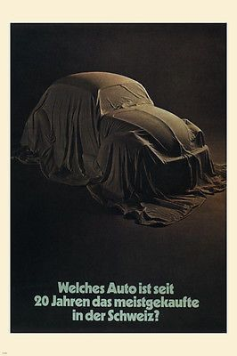 BEST-SELLING CAR in SWITZERLAND vintage ad poster h looser GERMANY 1969 24X36