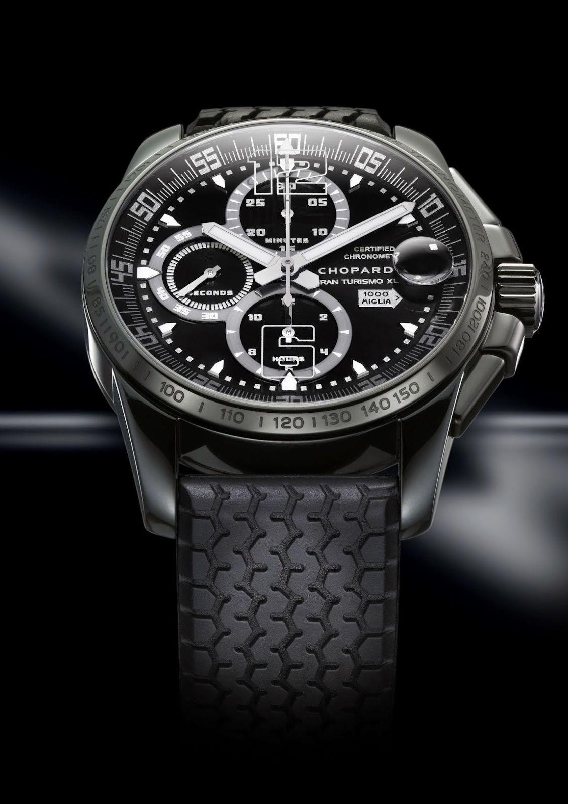 a26a551de29 Chopard Mille Miglia GT XL Chrono Speed Black chronometer wrist watch  (front view)