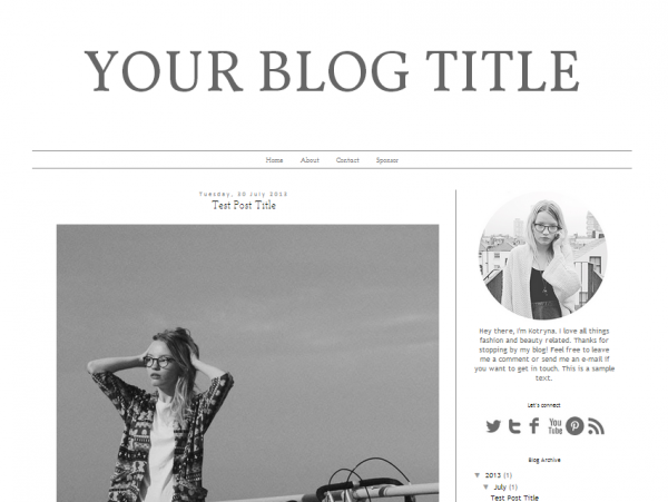 Free Blogger Template Design Fashion Notebook Http