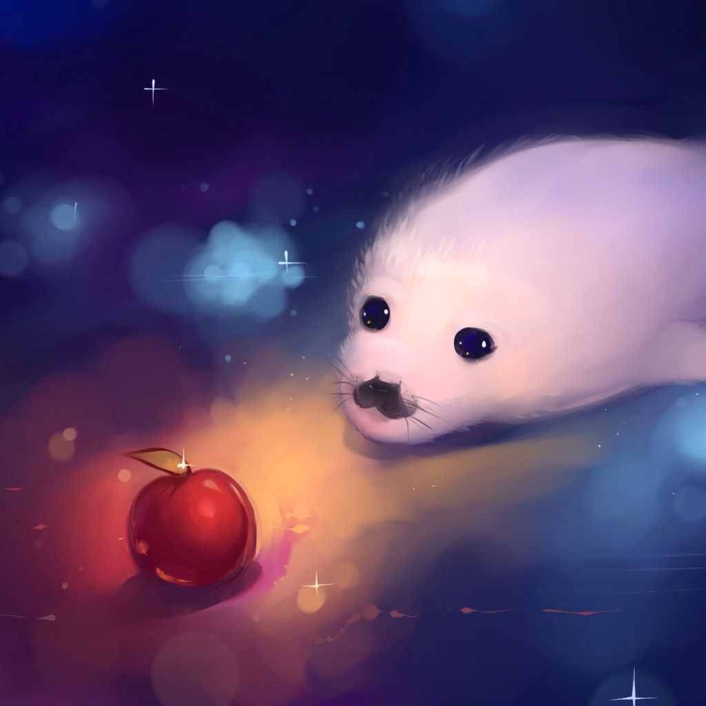 A seal going for an apple