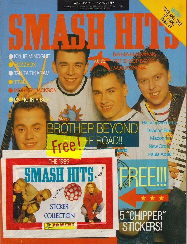 SMASH HITS MAGAZINE BROTHER BEYOND/KYLIE/MICHAEL JACKSON + FREE
