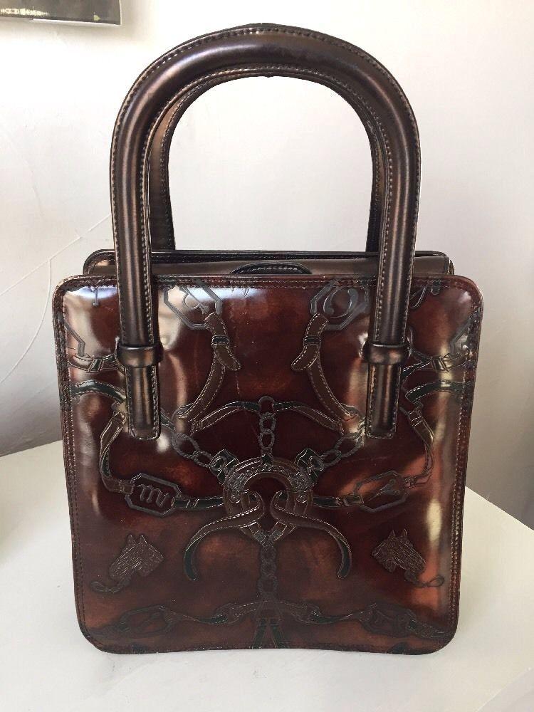 328ae7a7ddac Cristian Genuine Leather Made in Italy Western Style Handbag Equestrian  Pattern  Cristian  Handbag
