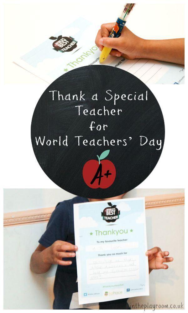 Thank A Special Teacher For World Teachers Day World Teachers