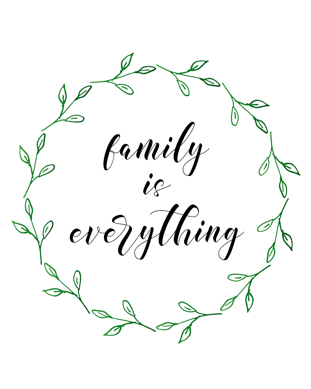 Free Printables Pretty Family Decor