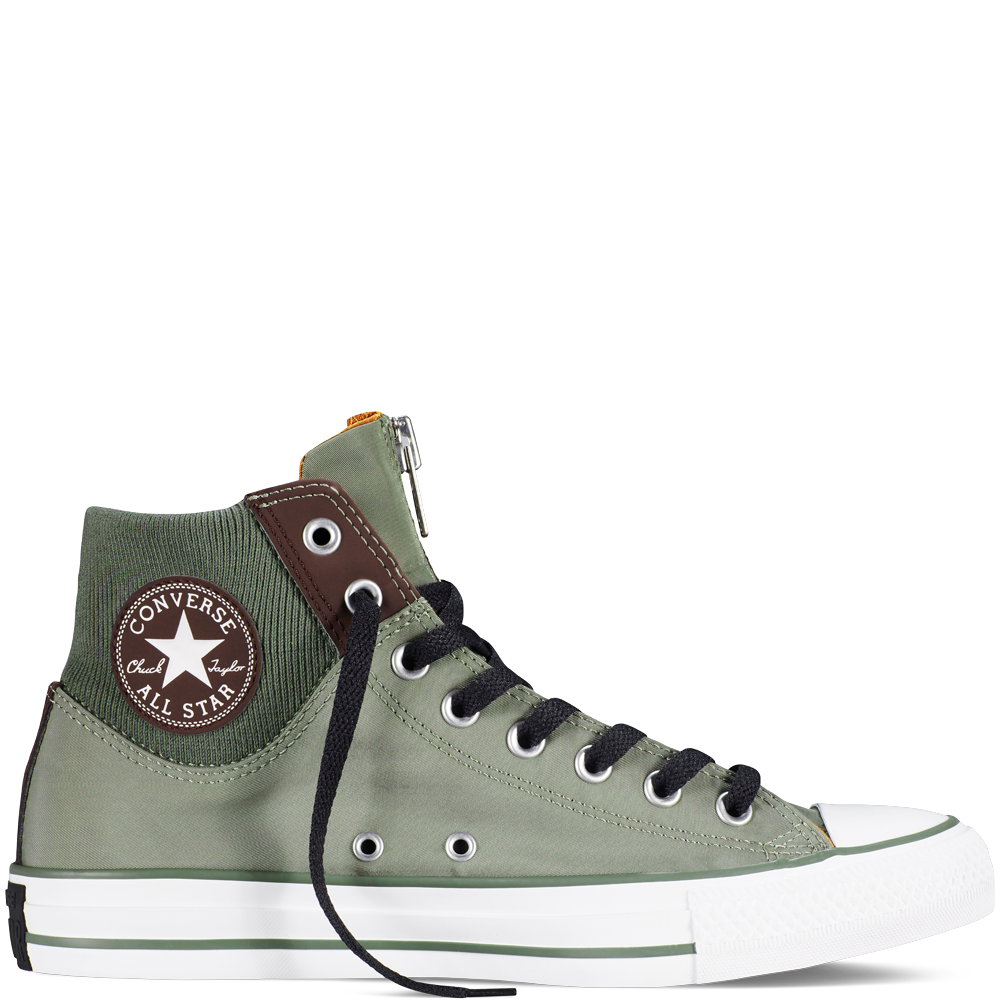 Chuck Taylor All Star Zip Olive SubmarineBurnt UmberWh olive submarineburnt umberwh