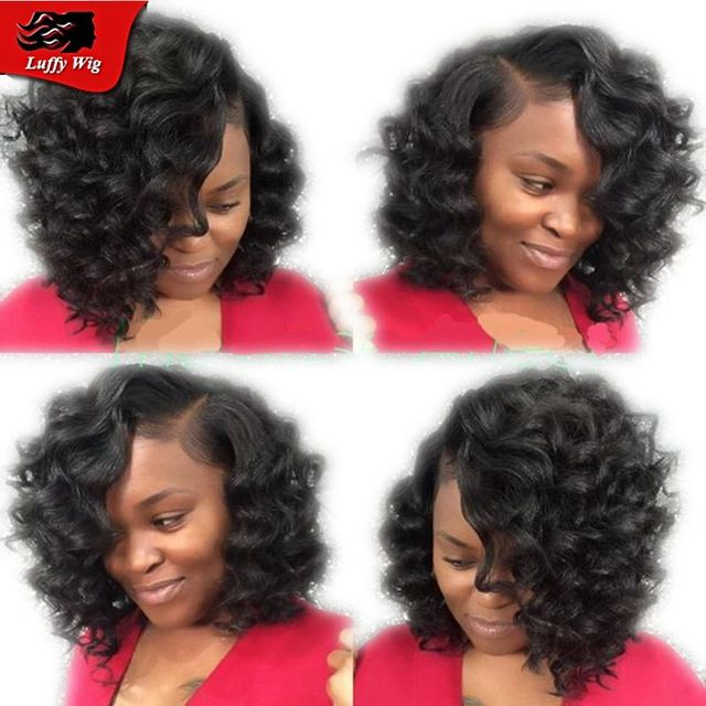 bob deep body wave brazilian virgin human hair wigs for