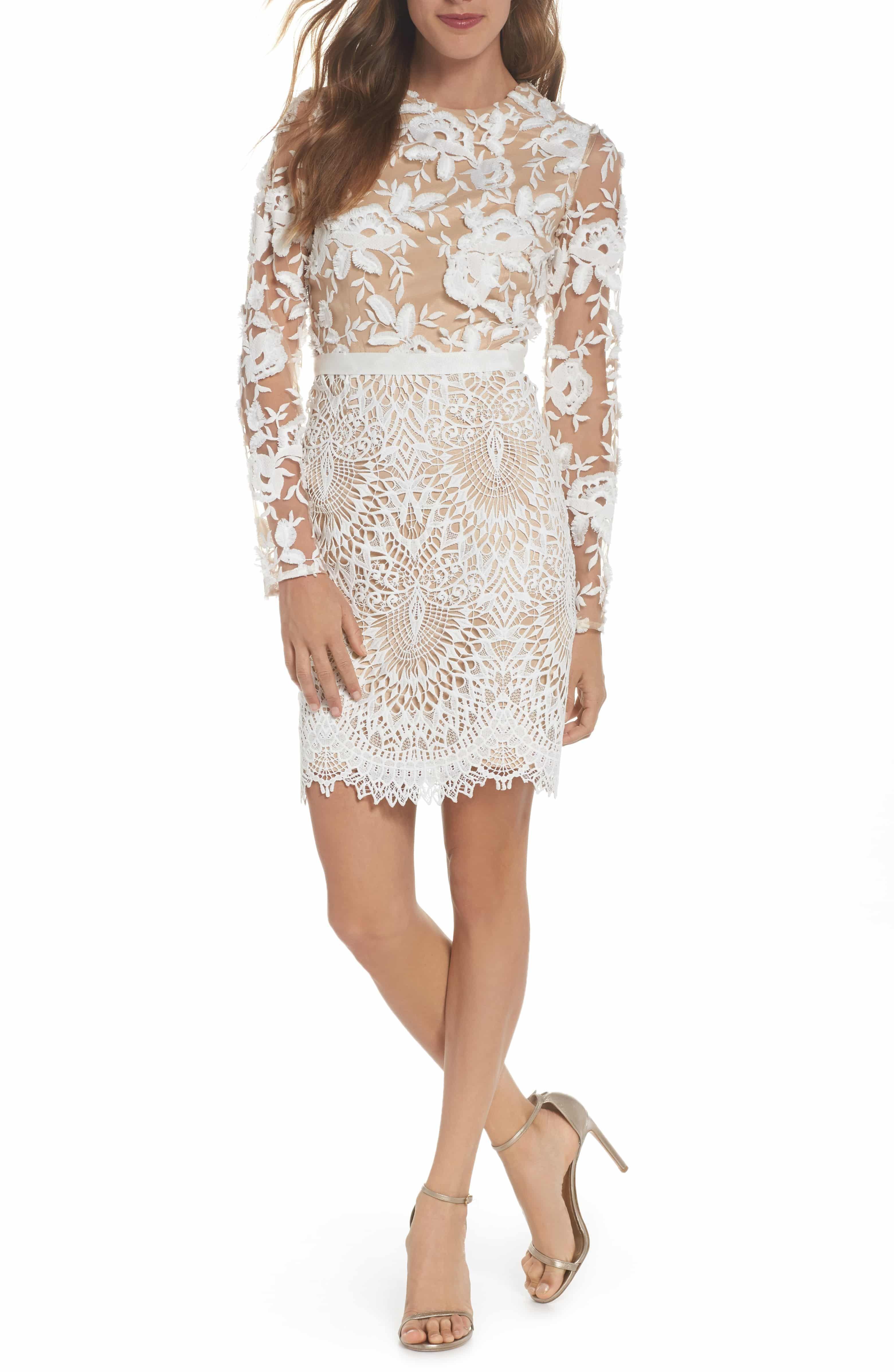 c0c107aa923d Calypso Lace Sheath Dress, Main, color, IVORY NUDE | LE STYLE | Lace ...