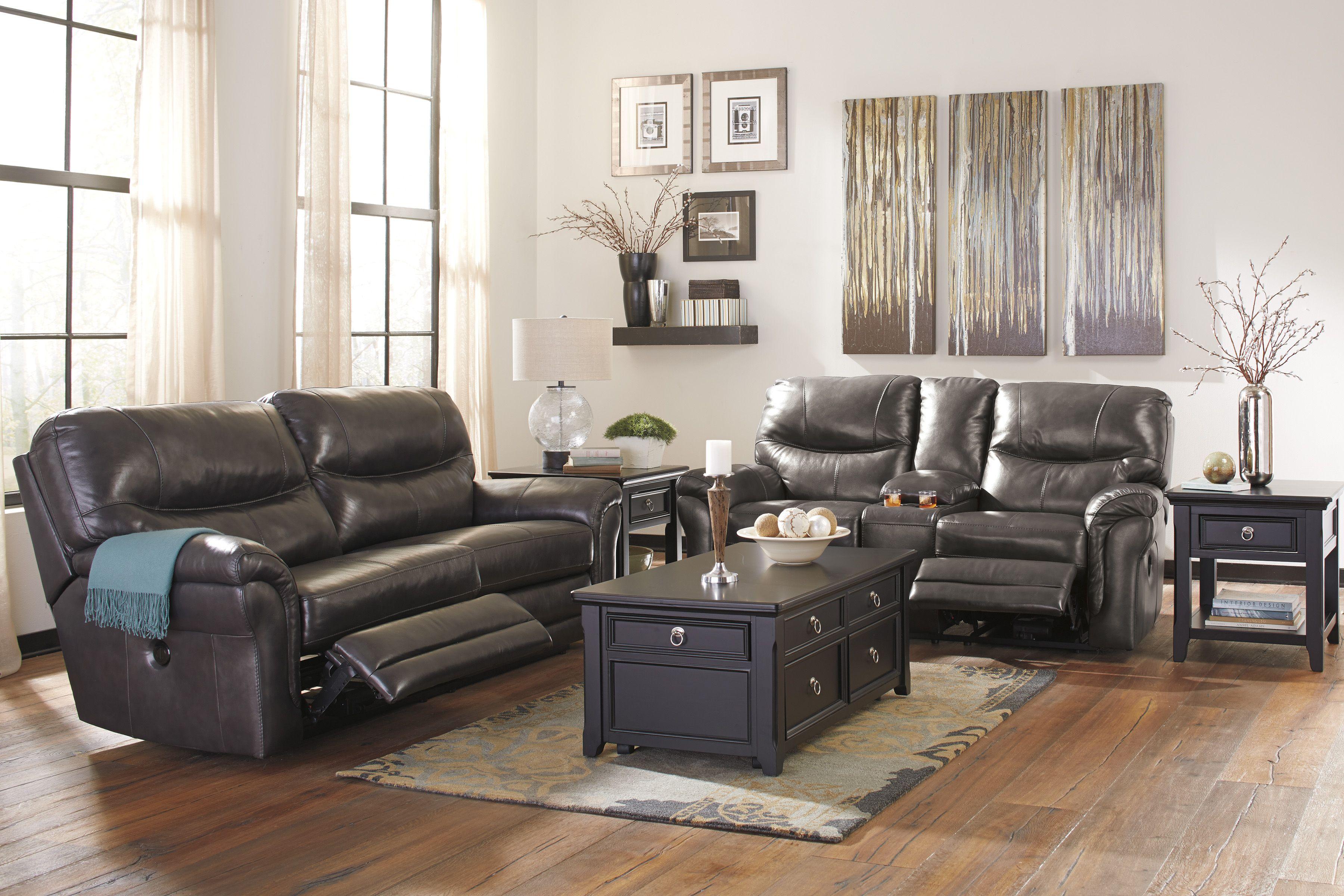 ashley banetonville genuine leather sofa in houston fashion rh pinterest com