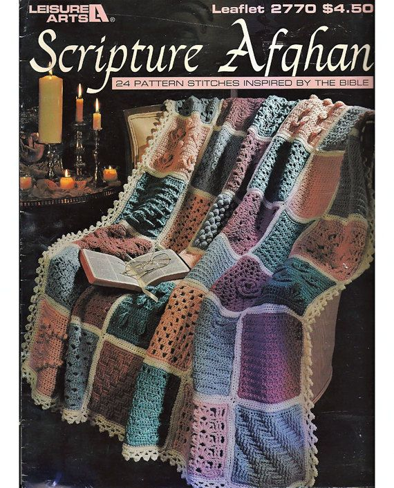 Scripture Afghan 24 Pattern stitches inspired by the Bible Crochet ...