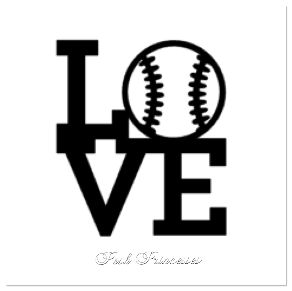 Love Baseball Sports Vinyl Decal Car Window Decal Laptop