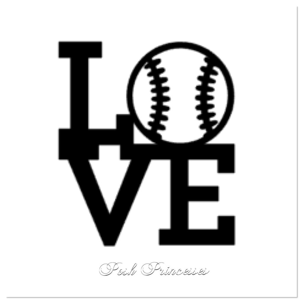 Love Baseball Sports Vinyl Decal Car Window Decal Laptop