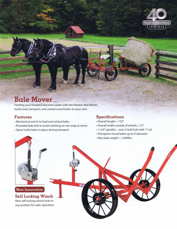 Pioneer Bale Mover Baling Horse Barns Kubota Tractors