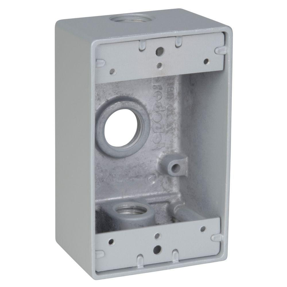 REDDOT 1-Gang Rectangle Metal Weatherproof Electrical Box Cover