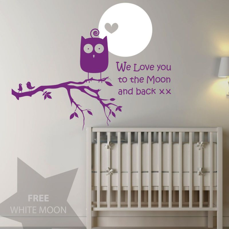 """""""We love you to the moon and back"""" wall sticker by Jaklot on eBay UK."""