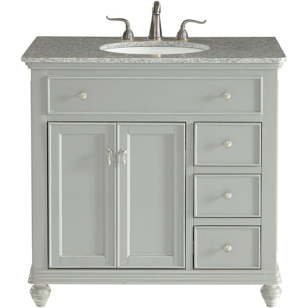 Otto 36 X 35 3 Drawer 2 Door Vanity Cabinet Light Grey Finish Vf12336gr Single Bathroom Vanity Bathroom Vanity Elegant Decor