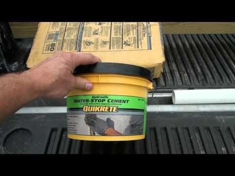 How To Waterproof A Basement Diy Squidgee Dry System Youtube Leak Repair Basement Walls Concrete Basement Walls