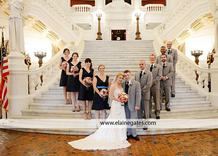 Harrisburg PA Wedding Photographer Capital Rotunda Ceremony The Vault Carlisle