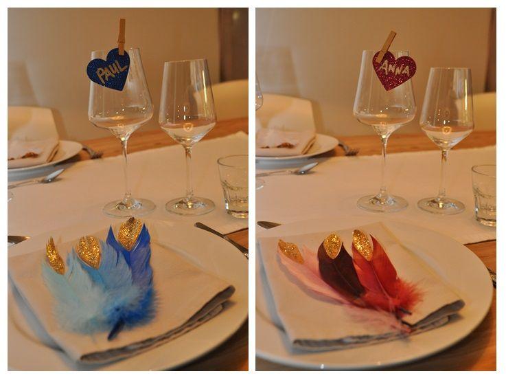 DIY - Do it yourself place cards in Gold goldene Klammern als Tischkärtchen http://wolkesieben-wedding.ch/news/diy-do-it-yourself-goldrausch-tischkarten