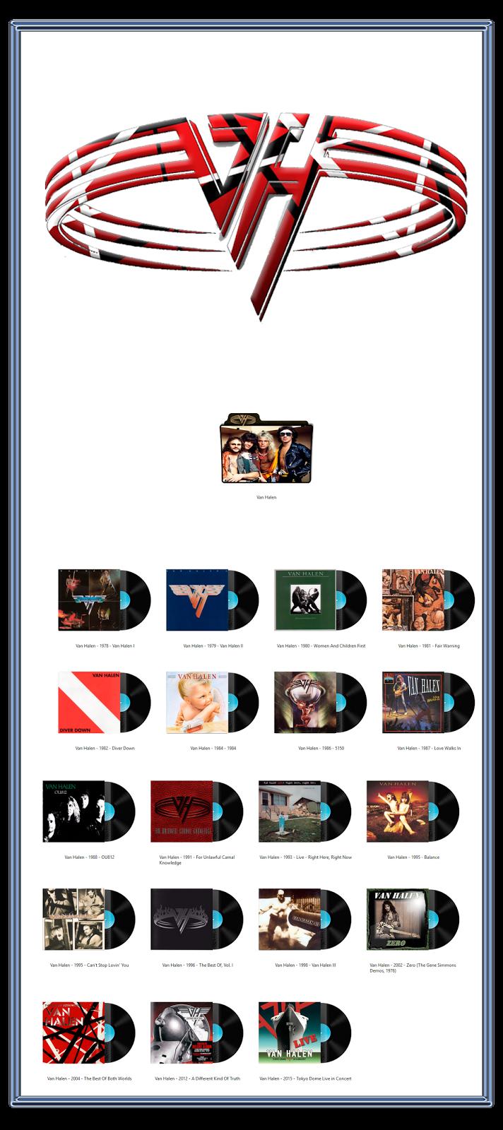Album Art Icons Van Halen Discography Icons Ico Png Van Halen Van Halen Album Covers Rock Band Posters
