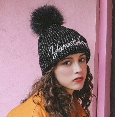 40a594912f8 Pin by Beauty Adele on Winter knitted bobble hat for women ...