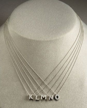 Diamond Love Letter Necklace, Letters K-O by Roberto Coin at Bergdorf Goodman.