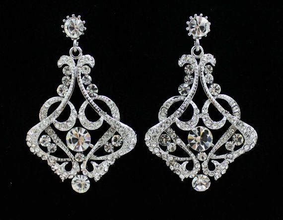 Bridal Chandelier Earrings, Bridal Jewelry, Wedding Jewelry NINA ...