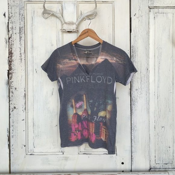 Pink Floyd band Tee band t shirt Pink Floyd v neck super soft band tee! Worn only a few times after purchasing in LA. Make me an offer . Size says large but fits a medium well and a Small like a baggy tee! Tops Tees - Short Sleeve