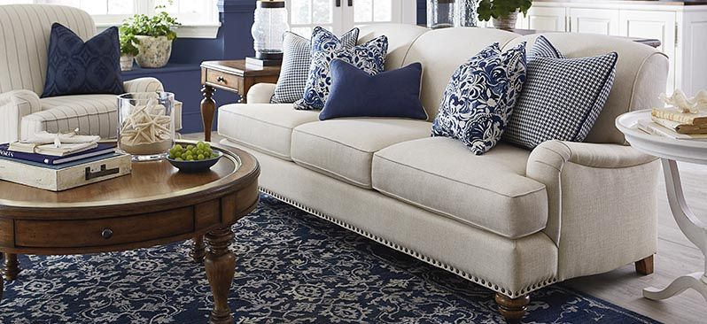 Sofas Fabric Seating Blue Living Room Couches Living Room
