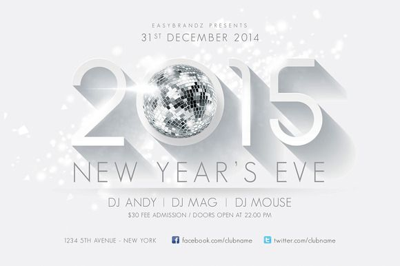 Check out 2015 New Years Flyer Template by Easybrandz on Creative - new year brochure template