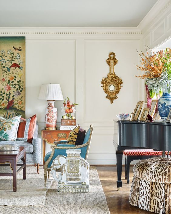 Old School Chinoiserie (Chinoiserie Chic) |  Decor:Classic,Traditional,Timeless | Déco Maison, Déco Salon, Decoration