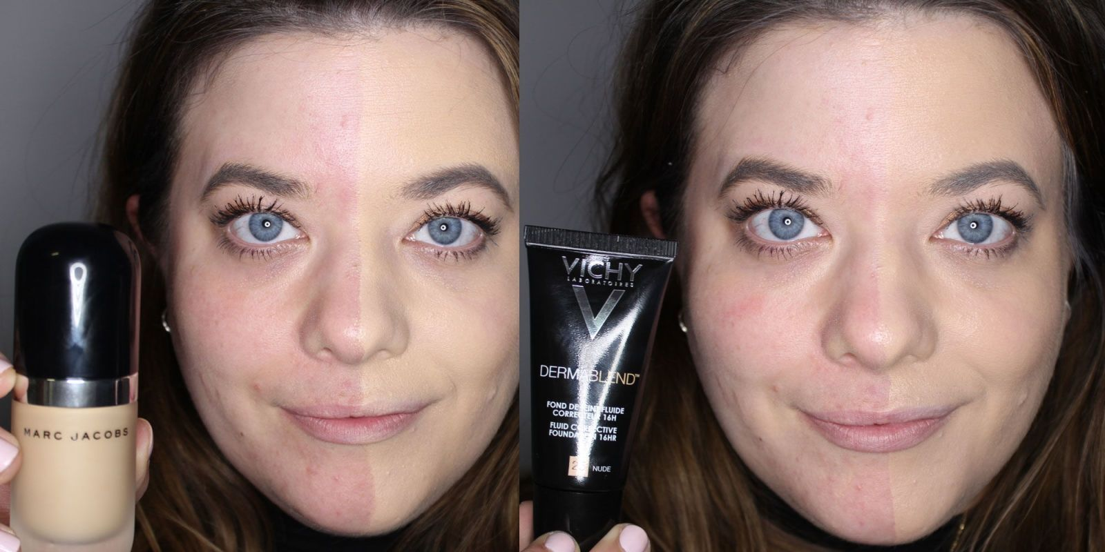 We tested 5 full coverage foundations on half a face