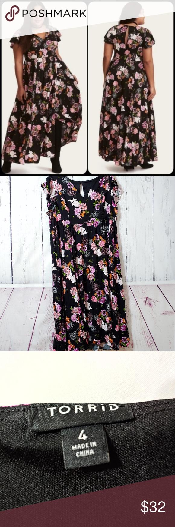 Torrid 4 Black Floral Short Sleeve Maxi Dress Torrid 4 Black Floral Short Sleeve Maxi Dress Size 4x Short Maxi Dress Full Maxi Dress Short Sleeve Maxi Dresses [ 1740 x 580 Pixel ]