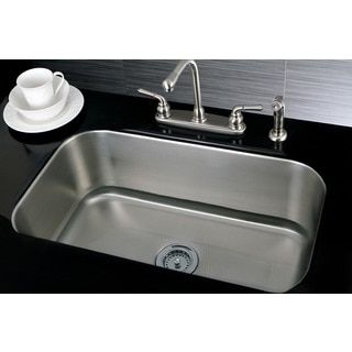 Kraus 31 inch undermount single bowl 16 gauge stainless steel kraus 31 inch undermount single bowl 16 gauge stainless steel kitchen sink with noisedefend soundproofing by kraus workwithnaturefo