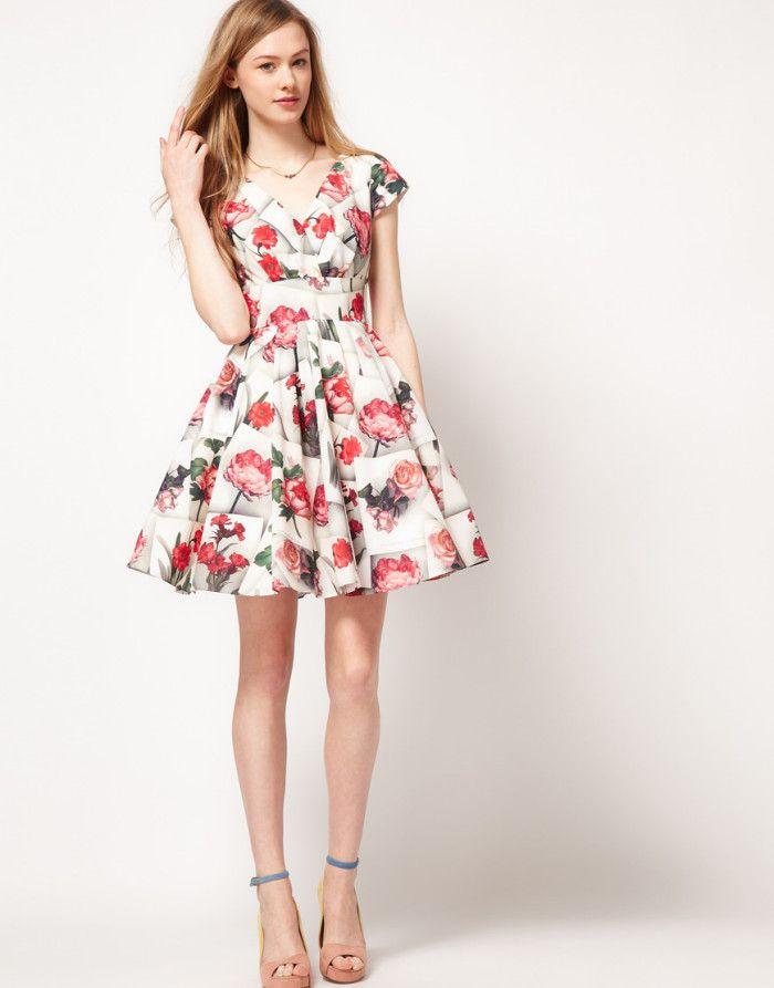 Vestidos para casamento floridos