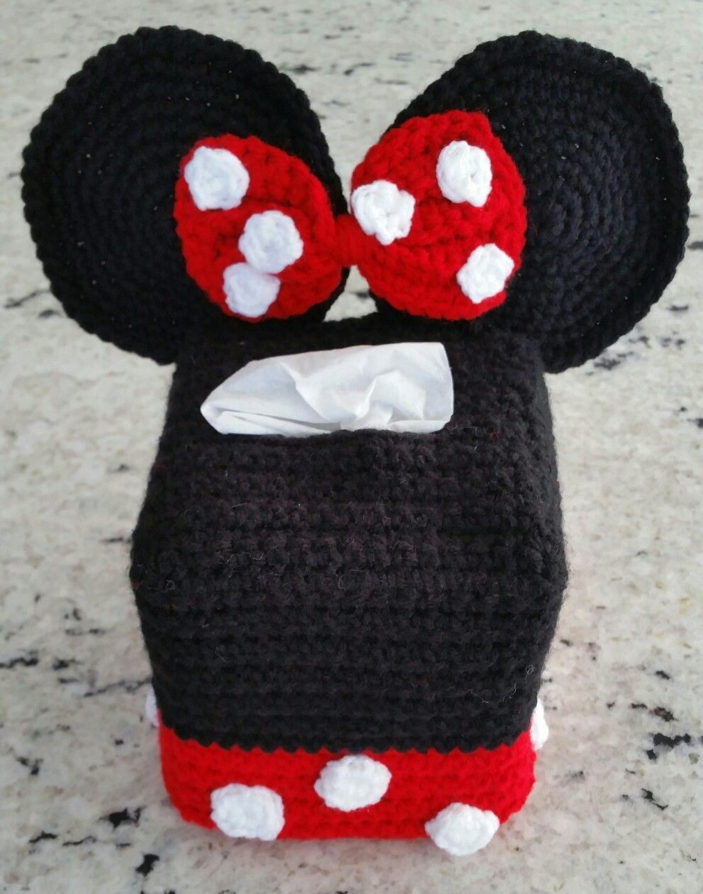 Crochet minnie mouse tissue box cover my crochet projects crochet minnie mouse tissue bankloansurffo Choice Image