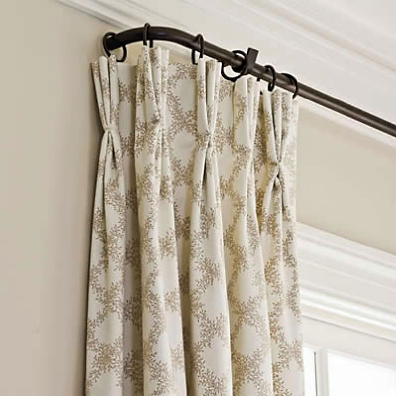 Great Looking Curtain Rod Curtains Home Window Treatments