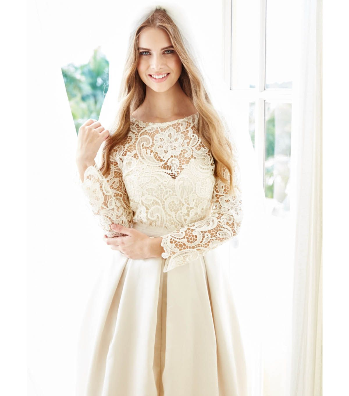 Wedding dress patterns with sleeves  Bridal Gown with Heavy Lace Top  Wedding  Pinterest  Tops Lace