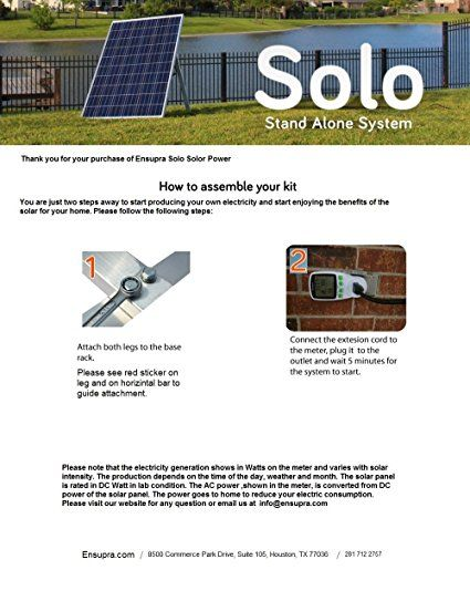 Amazon plug in solar power kit 250 watt solar panel with amazon plug in solar power kit 250 watt solar panel with micro grid tie inverter prewired and configured do it yourself diy solar ul 25 years solutioingenieria Choice Image