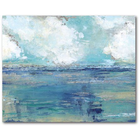 Courtside Market Seascape Gallery Wrapped Canvas Wall Art 16x20 Walmart Com In 2020 Abstract Ocean Painting Ocean Wall Art Cheap Canvas Art