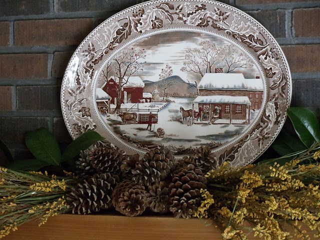 I have this same turkey platter...so beautiful