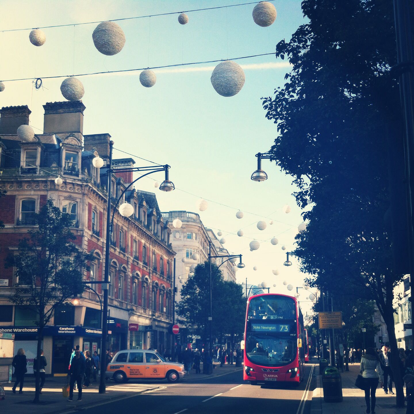 Oxford street London is looking beautiful today with the perfect weather and Christmas decorations!