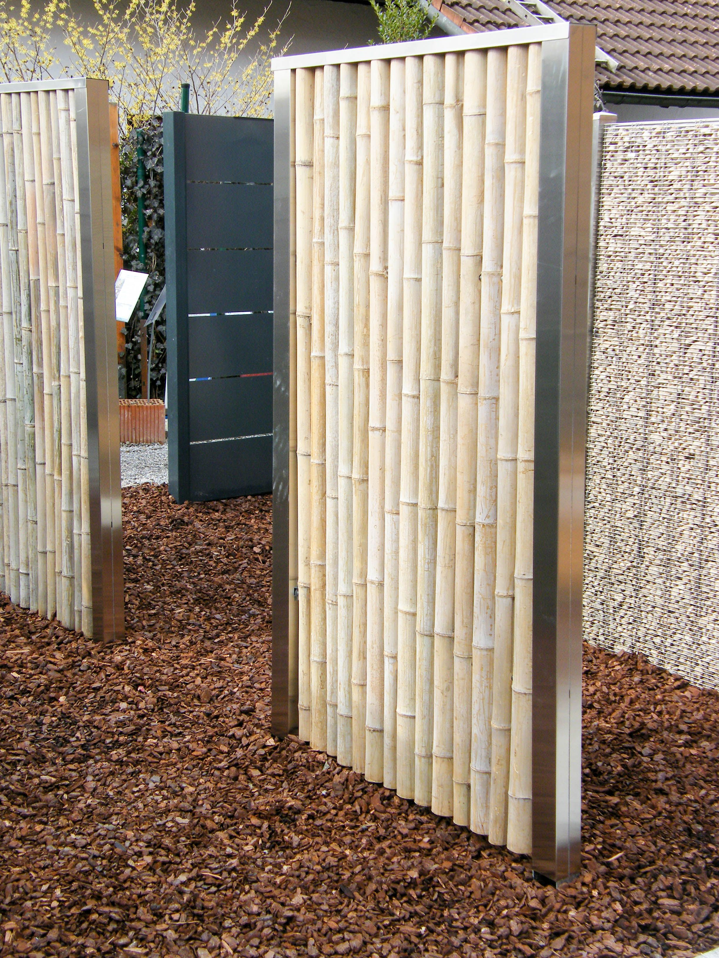 Bambooline Bambuselemente 180 90cm Und 180x150cm Bambus