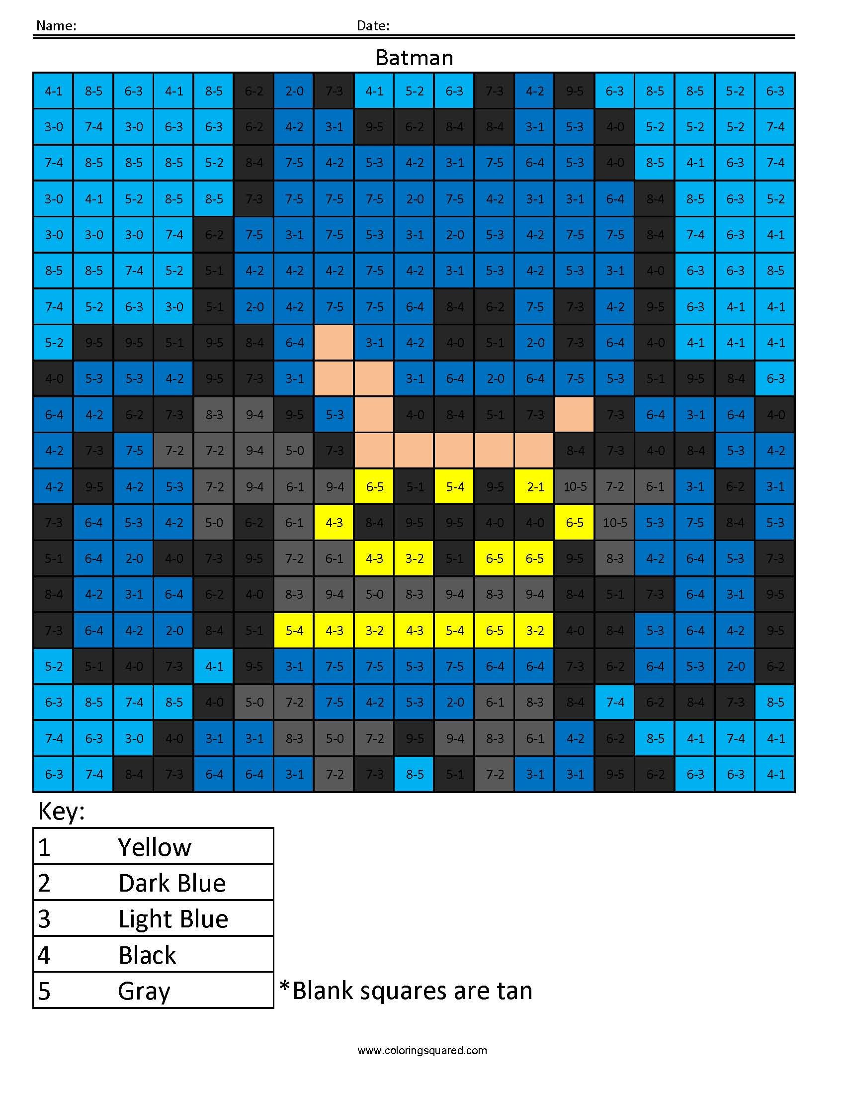 Batman Subtraction