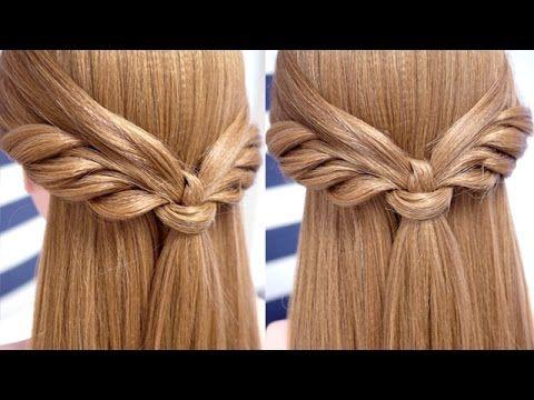 Peinado con media melena fácil y bonito paso a paso | Half updo ...
