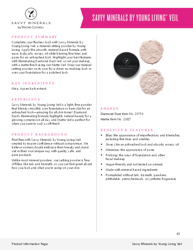 Veil Savvy Minerals by Young Living Diamond Dust