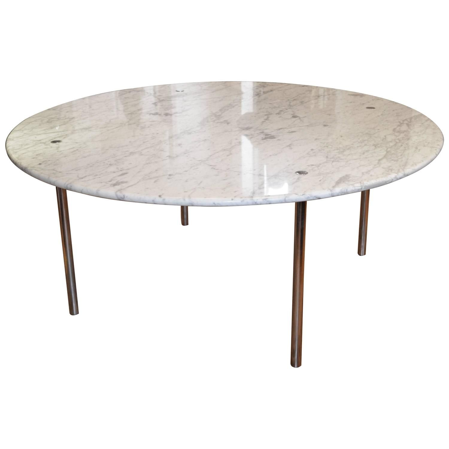 Monumental Round Marble Dining Table by Katavolos Littell & Kelly