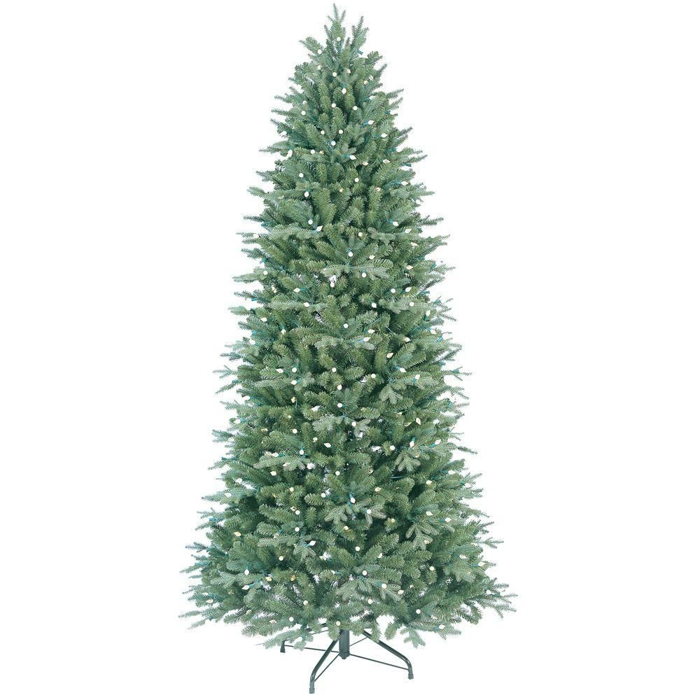 7 ft pre lit led christmas tree - Ge 7 5 Ft Pre Lit Led Just Cut Deluxe Aspen Fir Artificial Christmas Tree