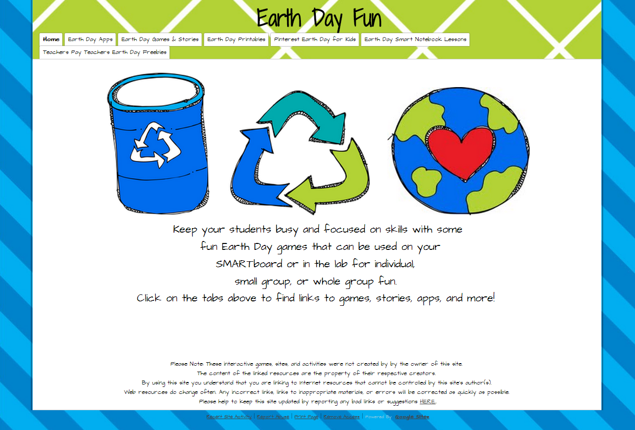 Technology Rocks Seriously Earth Day Fun Sites Apps Games Stories Printables And More